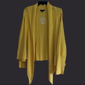 Topaz open front cardigan H by Halston NWOT